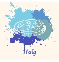 Italian Emotive Motive with Culinary Attractions vector image
