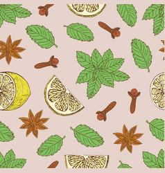 tea pattern-06 vector image vector image