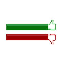 thumb up and thumb down banner vector image