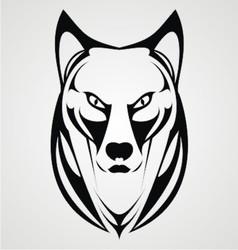 Wild Dog Face Tribal vector image
