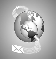 World concept of global shipping vector image vector image