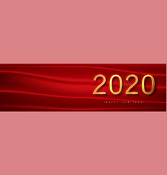 2020 red year background greeting vector image