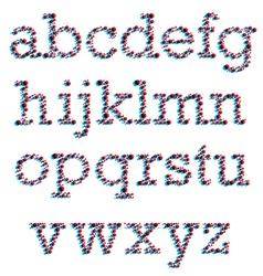 3D Colorblind Font vector