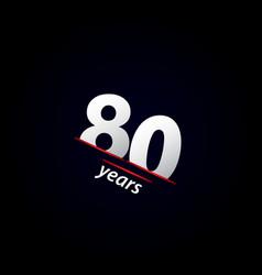 80 years anniversary celebration black and white vector