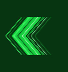 Abstract green arrow direction speed vector