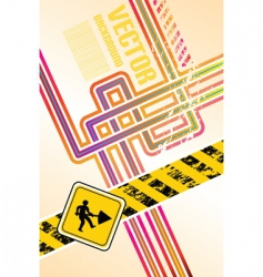 abstract lines construction vector image