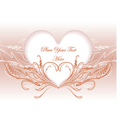 abstract valentine design vector image