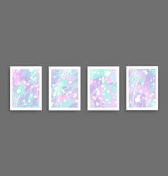 Abstract wall art set drawing vector