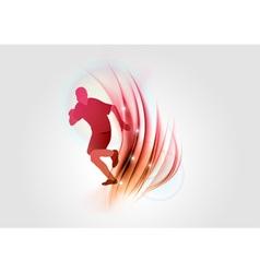 abstract white orange runner vector image