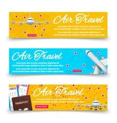 air travel banners collection - international vector image