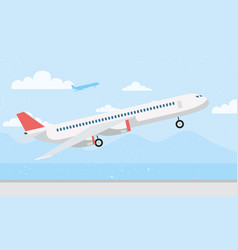 Airplane transport airline isolated icon vector