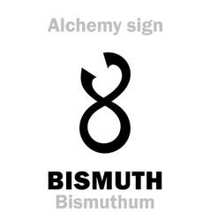 Alchemy bismuth bismuthum vector