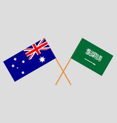 Australia and kingdom saudi arabia vector