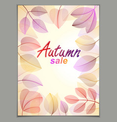 autumn leaves vertical background nature fall vector image