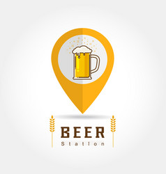 beer station vector image