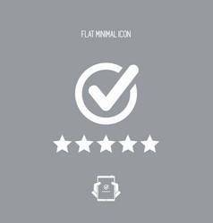 best rating - flat minimal icon vector image