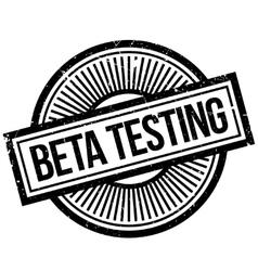 Beta testing stamp vector
