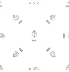 birch leaf pattern seamless vector image