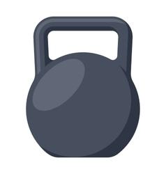 Black Kettlebell vector image