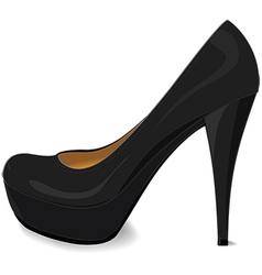 Black platform pump vector