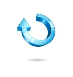 Blue round arrow vector image