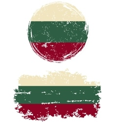 Bulgarian round and square grunge flags vector