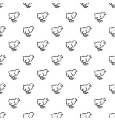 chick pattern seamless vector image