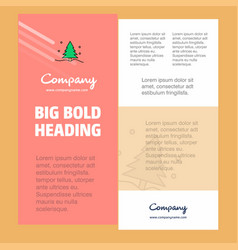 christmas tree business company poster template vector image