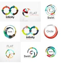 Collection of abstract circle logos vector image