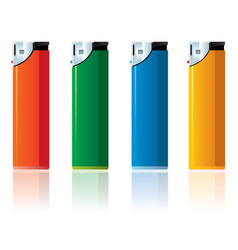 Colored lighter vector