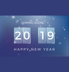 countdown to new year happy new year 2019 vector image