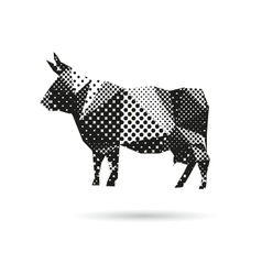 Cow abstract isolated vector