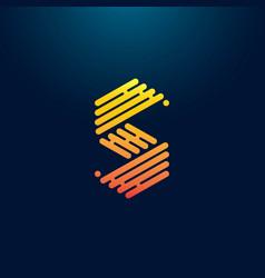Creative letter s initial logo design vector
