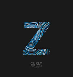 curly textured letter z vector image