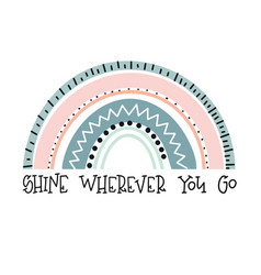 cute rainbows ba vector image