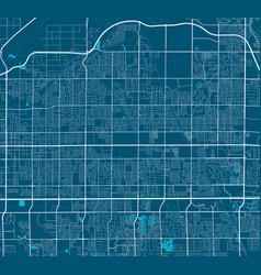 Detailed map mesa city linear print map vector