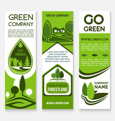Eco business green company banner template vector