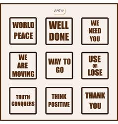 Famous slogans vector