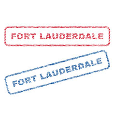 Fort lauderdale textile stamps vector