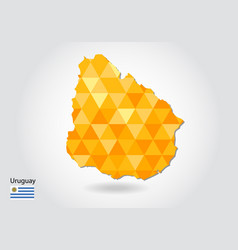 geometric polygonal style map of uruguay low poly vector image