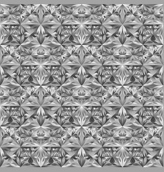 Geometrical polygonal gray mosaic floral pattern vector