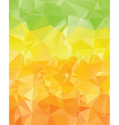 Green Yellow Orange Polygons2 vector
