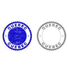 Grunge quebec textured stamp seals vector
