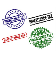 Grunge textured inheritance tax stamp seals vector