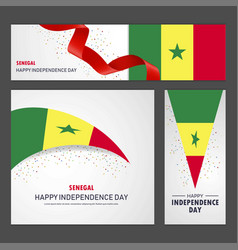 Happy senegal independence day banner and vector