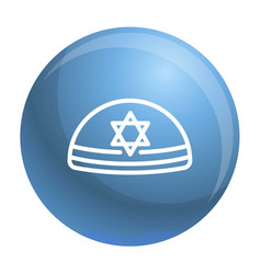 kippah icon outline style vector image