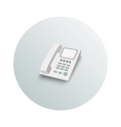 Landline phone business concept vector