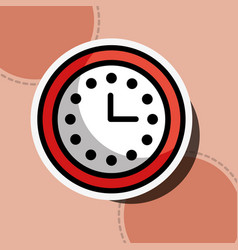 logistics clock time business customer service vector image