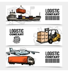 Logistics Horizontal Banners vector image