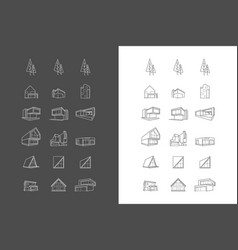 logos icons with architecture houses vector image